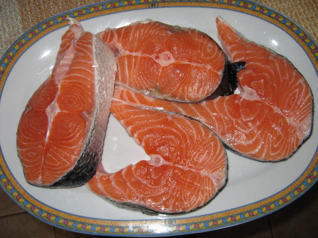 Σολωμός με μέλι - συνταγή ψάρι -