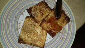 Φέτα σαγανάκι με φύλλο κρούστας & μέλι - 9