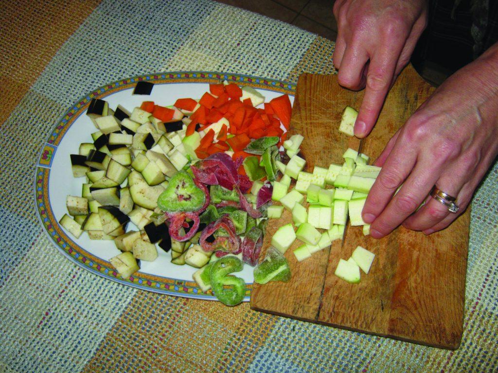 Ζυμαρικά με λαχανικά και κρέμα τυριών - 1