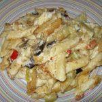Ζυμαρικά με λαχανικά και κρέμα τυριών