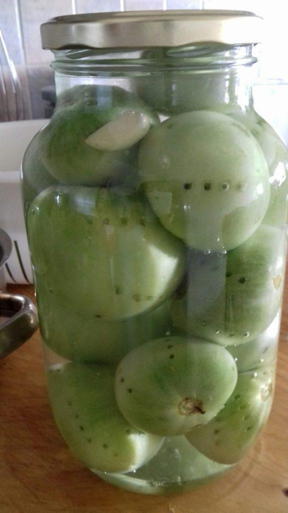 Πράσινες ντοματούλες τουρσί - ηχωμαγειρέματα - 16