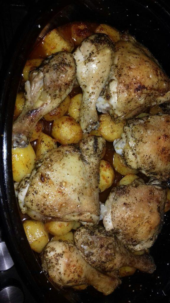 Κοτόπουλο με πατάτες μπέιμπι στο φούρνο - 15