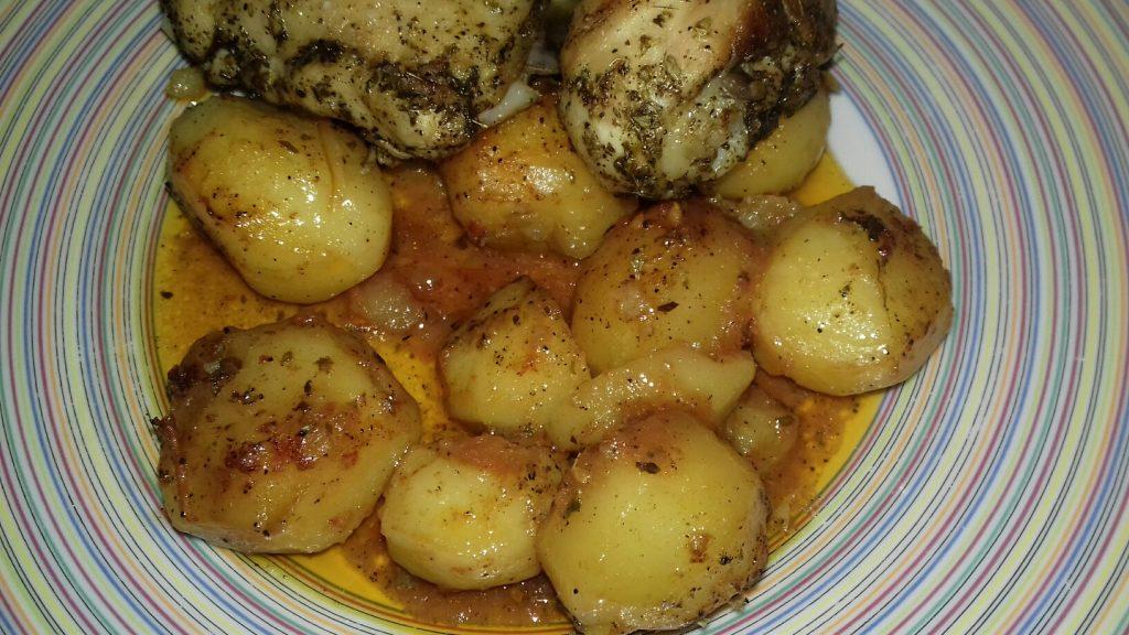 Κοτόπουλο με πατάτες μπέιμπι στο φούρνο - 17