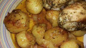 Κοτόπουλο με πατάτες μπέιμπι στο φούρνο - 19