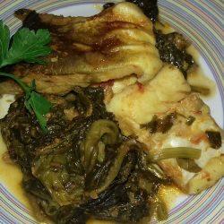 Μπακαλιάρος με σπανάκι στο φούρνo… το τέλειο φαγάκι