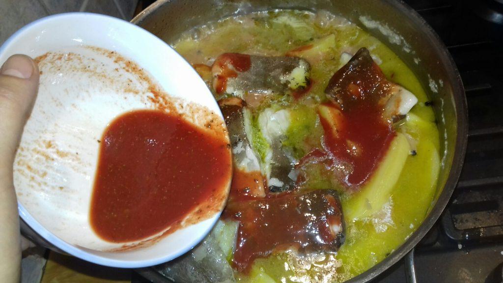 Μπακαλιάρος αγιορείτικος με πατάτες και σάλτσα ντομάτας - 36