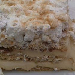 Μπισκοτένιο γλυκό ψυγείου, δροσερό… καραμελάτο!
