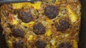 Κεφτέδες με κρεμμύδια και πατάτες στο φούρνο - 43 - ηχωμαγειρέματα