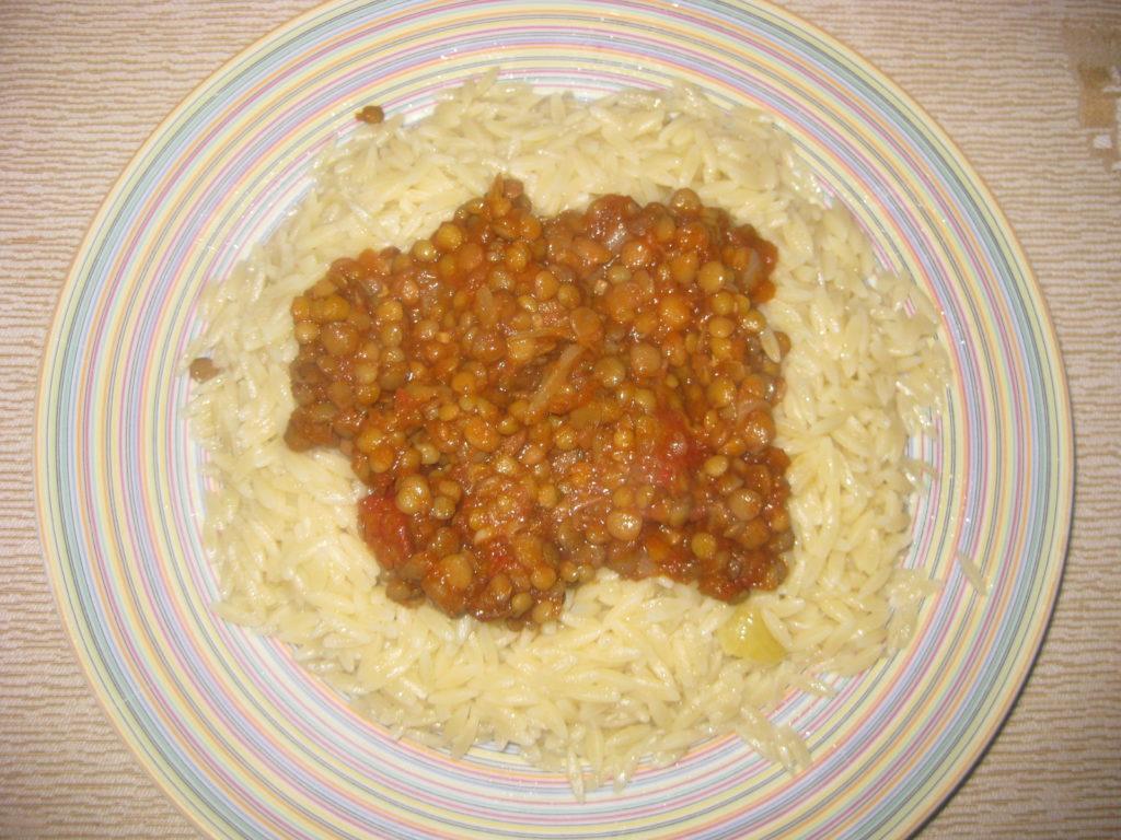 Κριθαράκι με σάλτσα φακής - 13