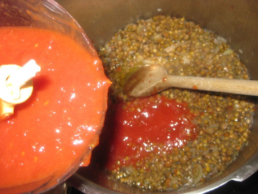Κριθαράκι με σάλτσα φακής - 7