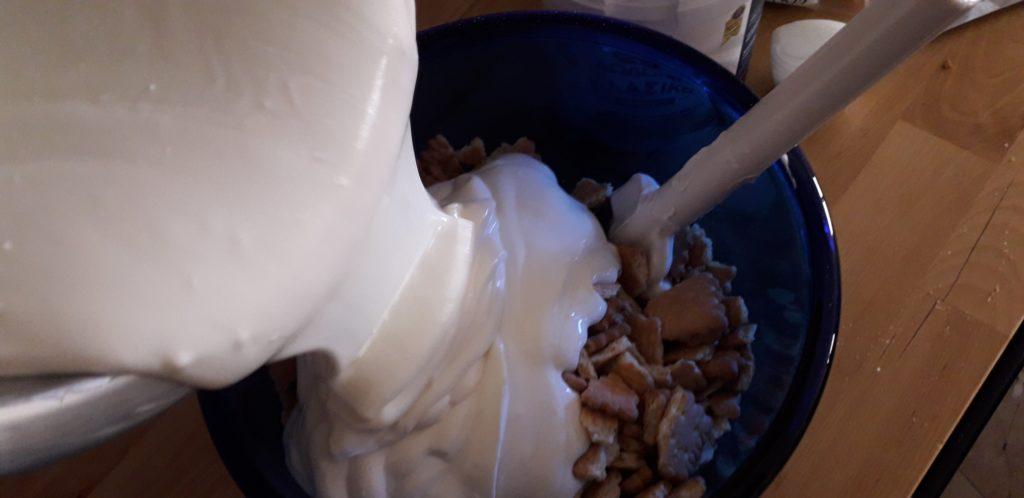 Υγιεινό γλυκό του πεντάλεπτου με μπισκότα - 15