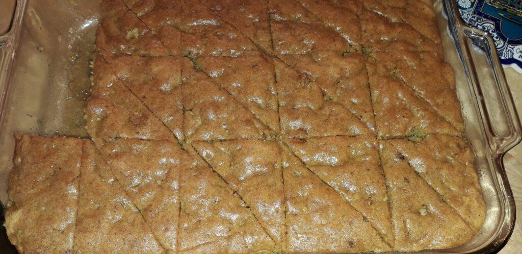 καρυδόπιτα σιροπιαστή, αρωματική - food styling - 4