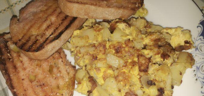 χωριάτικη ομελέτα με πατάτες και κρεμμύδια - 27 - ηχωμαγειρέματα