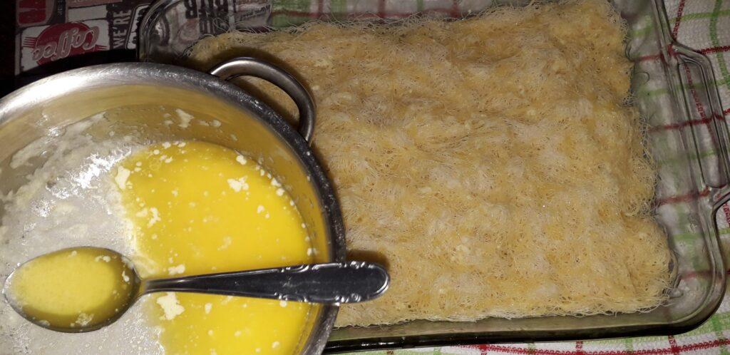 εκμέκ κανταΐφι με εύκολη κρέμα - 5
